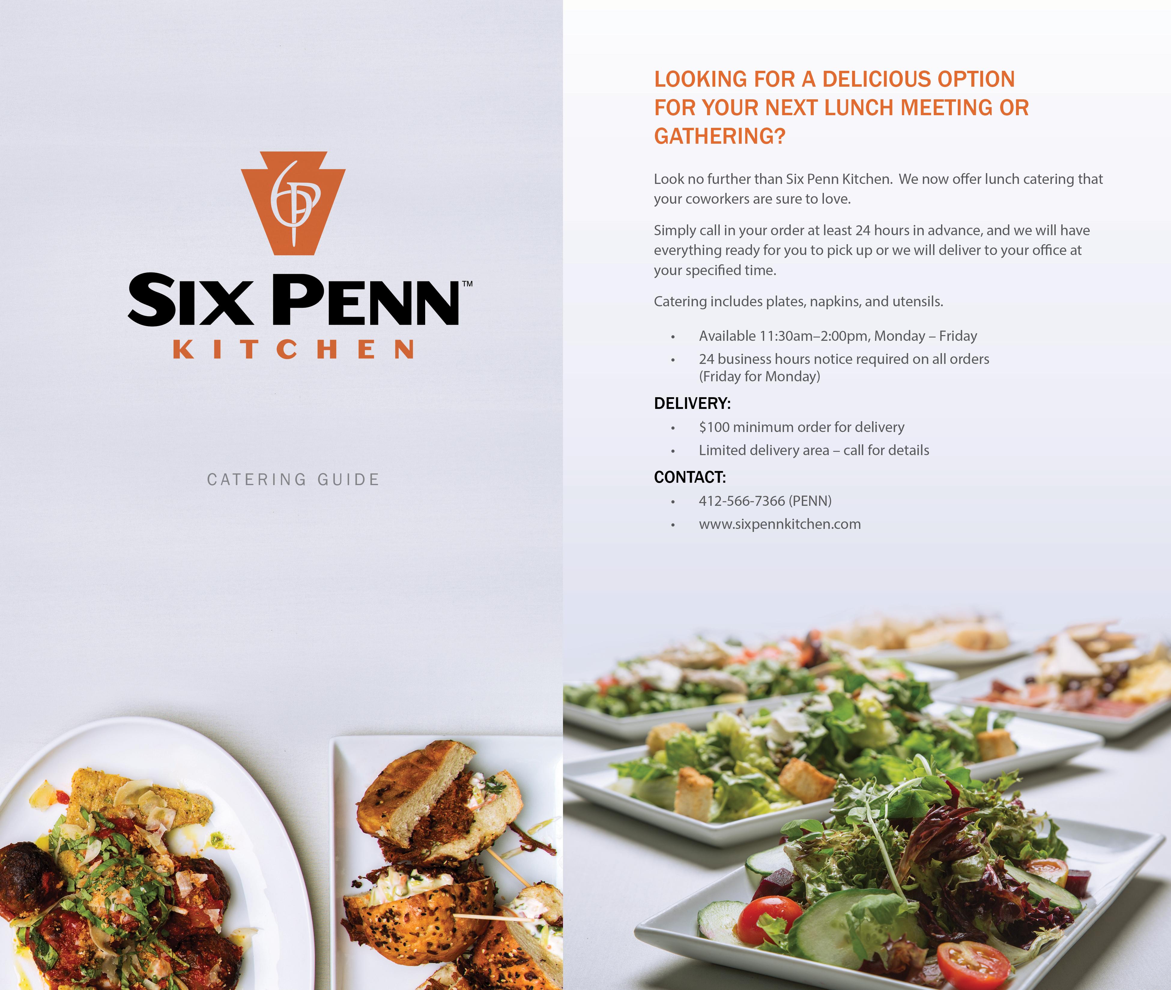 Six Penn Kitchen Menu